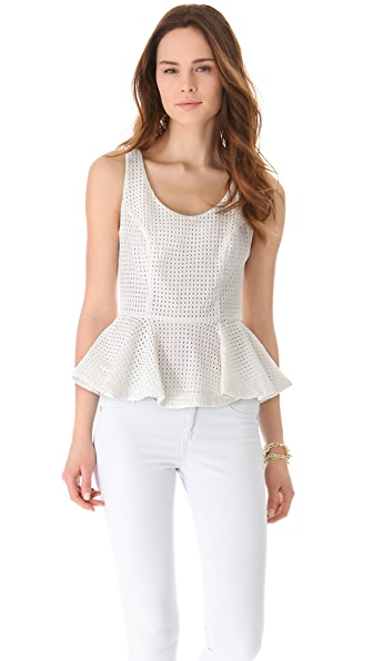 ADDISON Sleeveless Peplum Top
