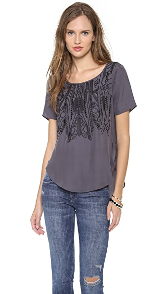 ADDISON Menlo Embroidered Top