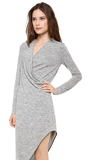 ADDISON Asymmetrical Pleat Dress