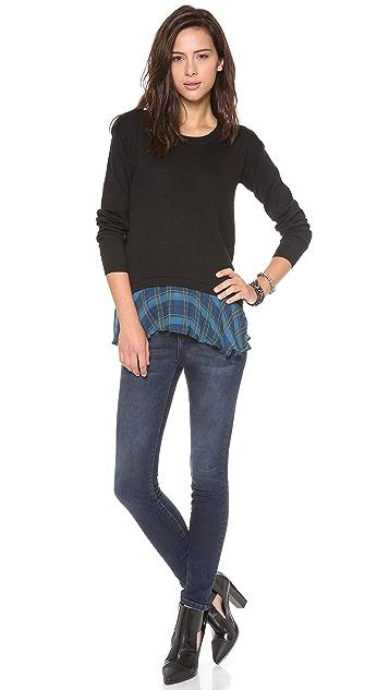 ADDISON Rainey Ruffle Hem Sweater