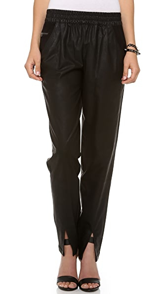ADDISON Averell Faux Leather Pants