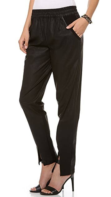 ADDISON Averell Faux Leather Pants