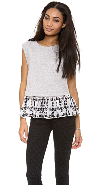 ADDISON Brett Drop Waist Sweatshirt