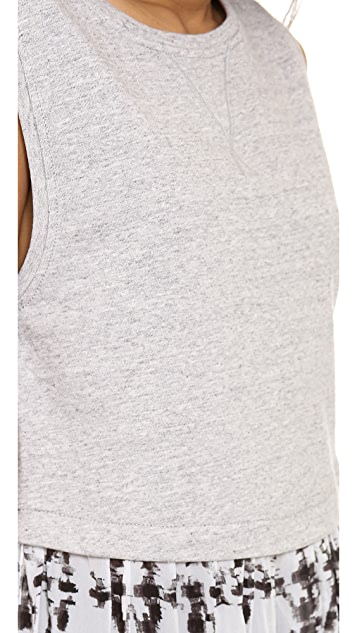 ADDISON Brett Drop Waist Sweatshirt