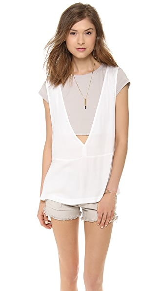 ADDISON Evert Layered Tee Tunic