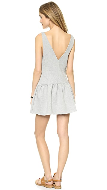 ADDISON Terry Drop Waist Tank Dress