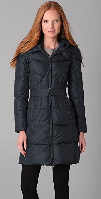 Add Down Nylon Gloss Icon Puffer Coat