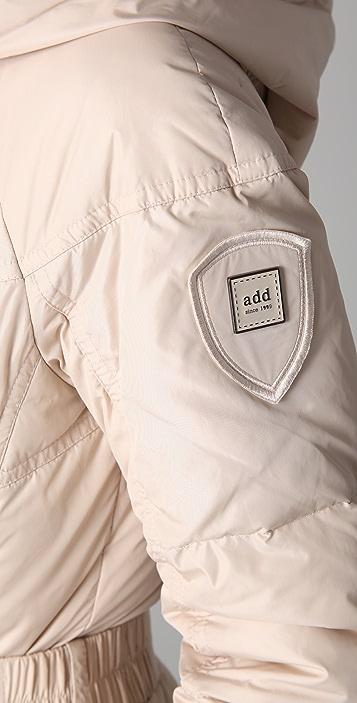 Add Down Nylon Gloss Icon Puffer Coat