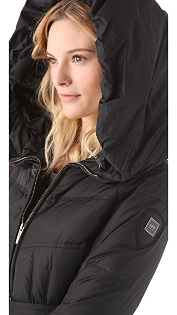 Add Down Gloss Icon Puffer Coat