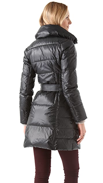 Add Down Shiny Icon Puffer Coat