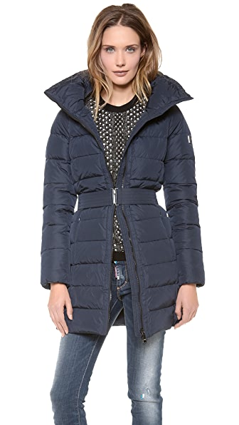 Add Down Down Coat with Knit Collar