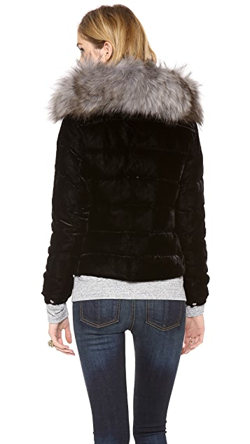 Add Down Down Jacket with Fur Collar
