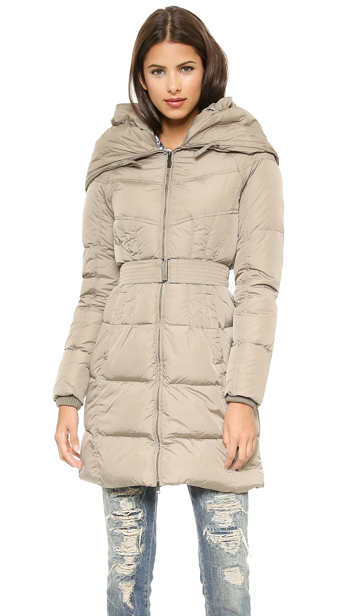 Add Down Shawl Collar Down Coat | SHOPBOP