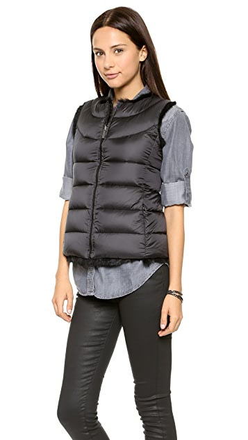 Add Down Reversible Down Vest with Fur