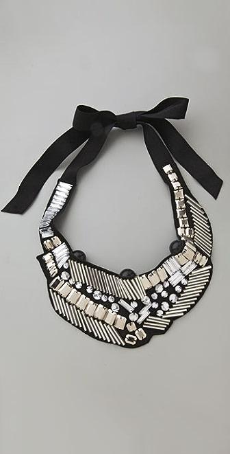 Adia Kibur Multi Beaded Bib Necklace