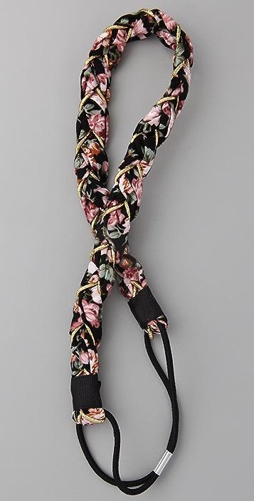 Adia Kibur Floral Glitter Headband