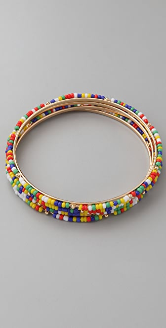 Adia Kibur Seed Bead Bangle Set