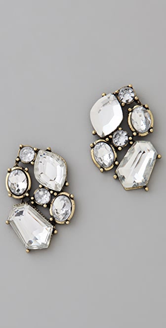 Adia Kibur Crystal Cluster Earrings