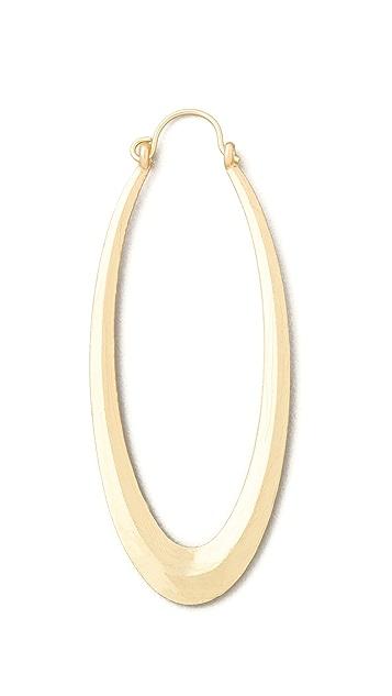 Adia Kibur Matte Gold Hoop Earrings