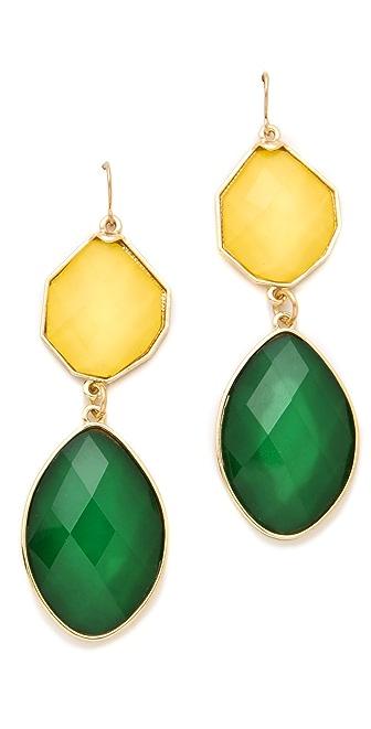 Adia Kibur Two Stone Drop Earrings