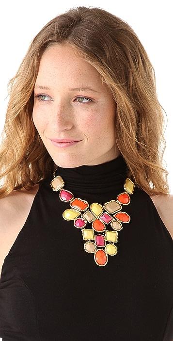 Adia Kibur Multi Stone Bib Necklace