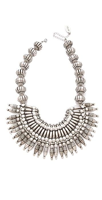 Adia Kibur Silver Bib Necklace