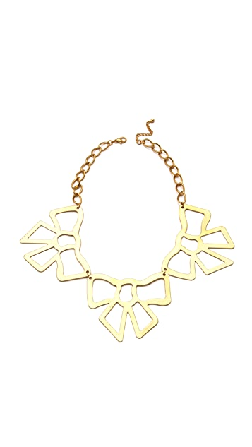 Adia Kibur Bow Station Necklace