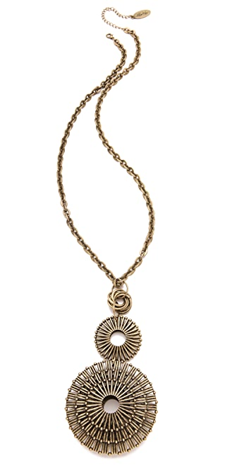 Adia Kibur Triple Circle Pendant Necklace