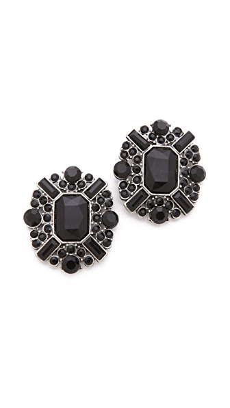 Adia Kibur Stone Cluster Earrings