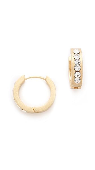 Adia Kibur Small Matte Hoop Earrings