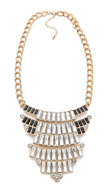 Adia Kibur Crystal Bib Necklace