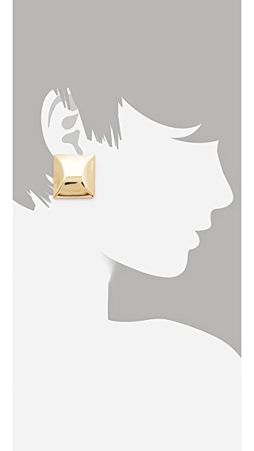Adia Kibur Gold Stud Earrings