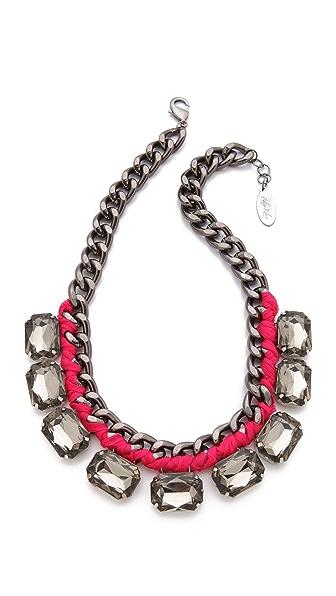 Adia Kibur Crystal Station Necklace