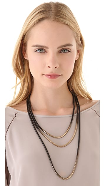 Adia Kibur Layered Ombre Chain Necklace