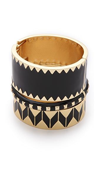 Adia Kibur Enamel Bangle Set