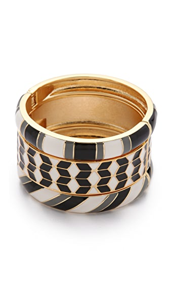 Adia Kibur Black & White Bangle Set