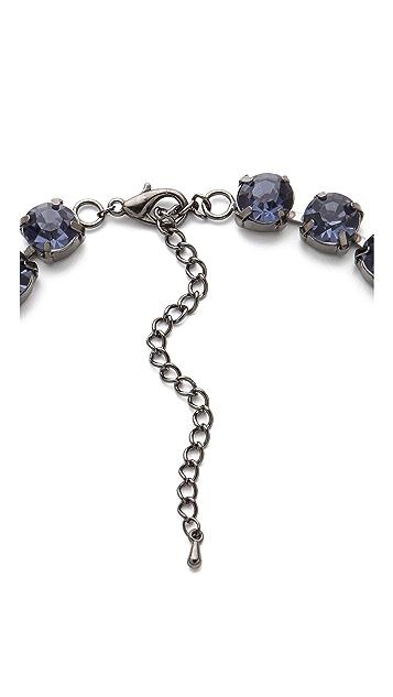 Adia Kibur Blue Crystal Necklace