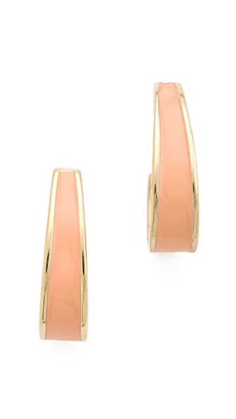 Adia Kibur Enamel Hoop Earrings
