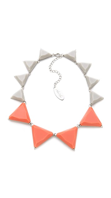Adia Kibur Resin Triangle Station Necklace