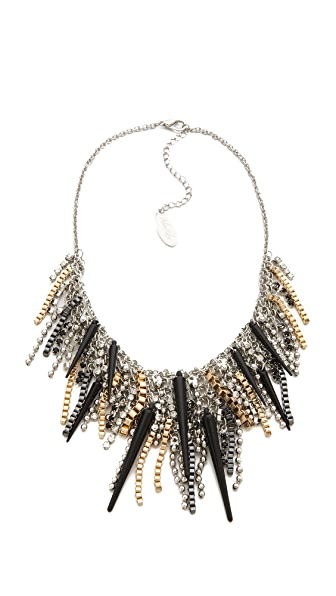 Adia Kibur Spike Crystal Necklace