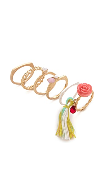 Adia Kibur Rose Ring Set