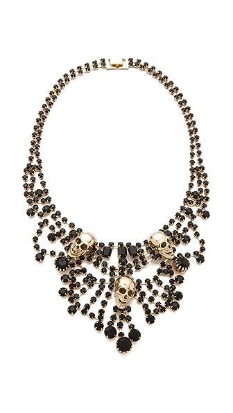 Adia Kibur Skull Chandelier Necklace