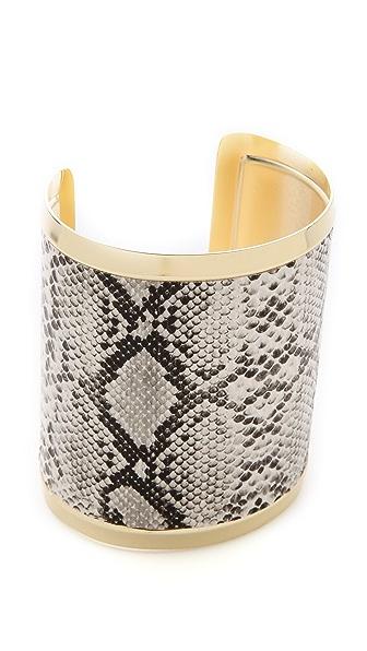 Adia Kibur Reptile Thick Cuff Bracelet