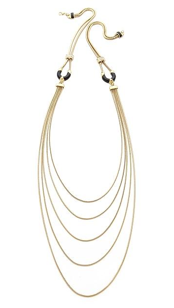 Adia Kibur Long Layered Necklace