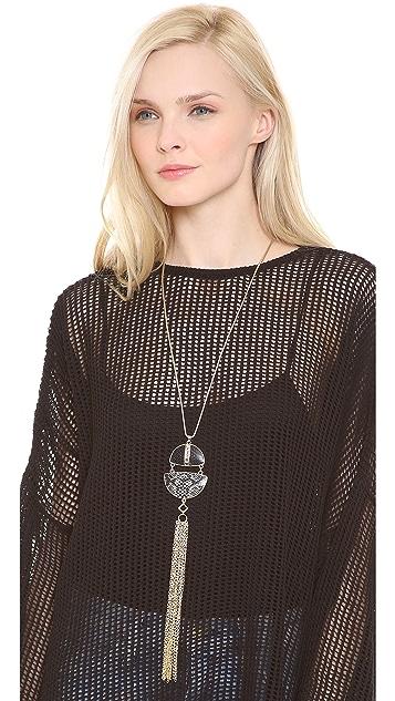 Adia Kibur Fringe Pendant Necklace