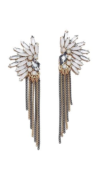 Adia Kibur Crystal Fringe Earrings