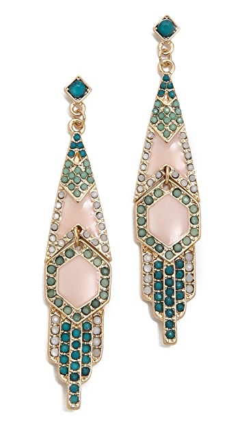 Adia Kibur Crystal Drop Earrings