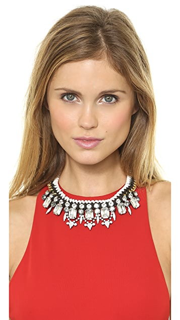 Adia Kibur Crystal Woven Necklace