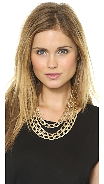 Adia Kibur Hammered Chain Link Necklace