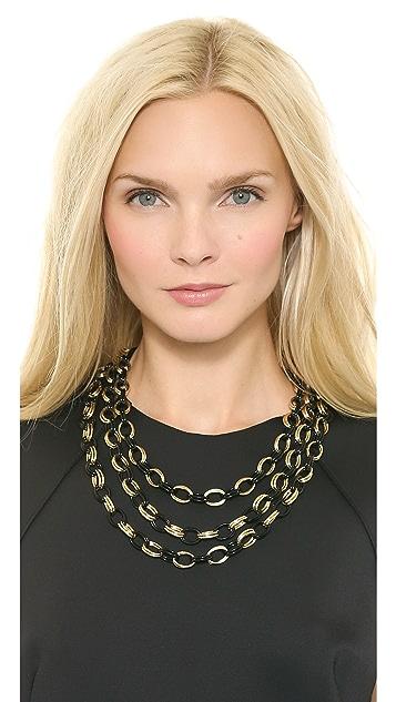 Adia Kibur Three Layer Chain Necklace